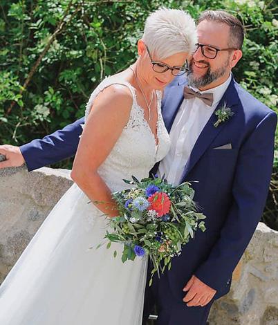 Juliane M. mit Ehemann