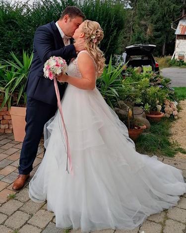 Karin M. mit Ehemann