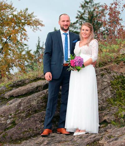 Katharina R. mit Ehemann