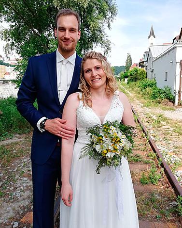Monika K. mit Ehemann