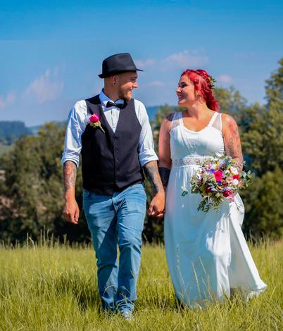 Silvia K. mit Ehemann