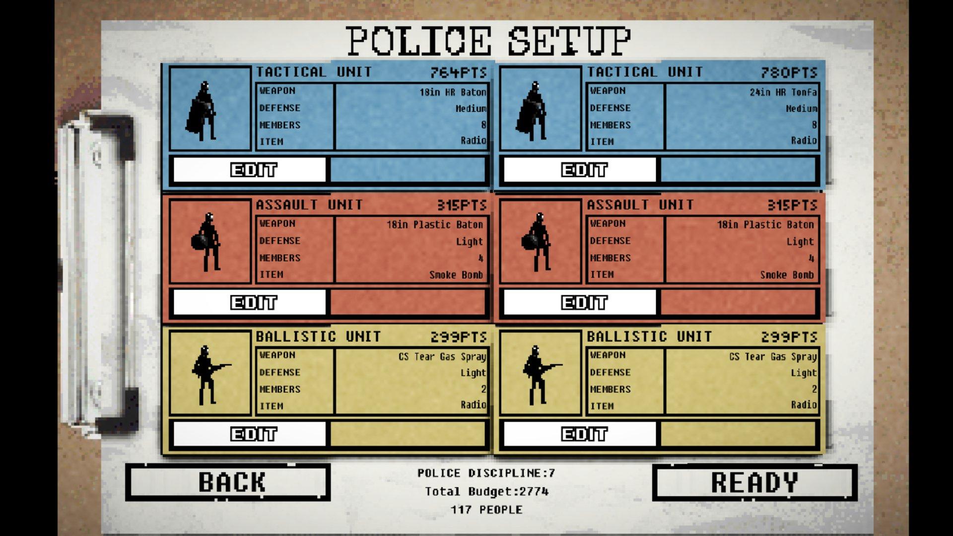 riot civil unrest police setup