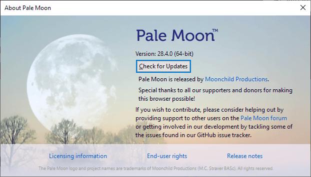 pale moon 28.4.0