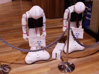 pair of robots appearing to be asleep