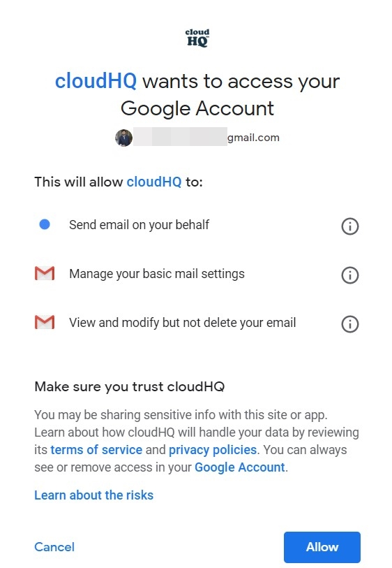 multiple emails permissions