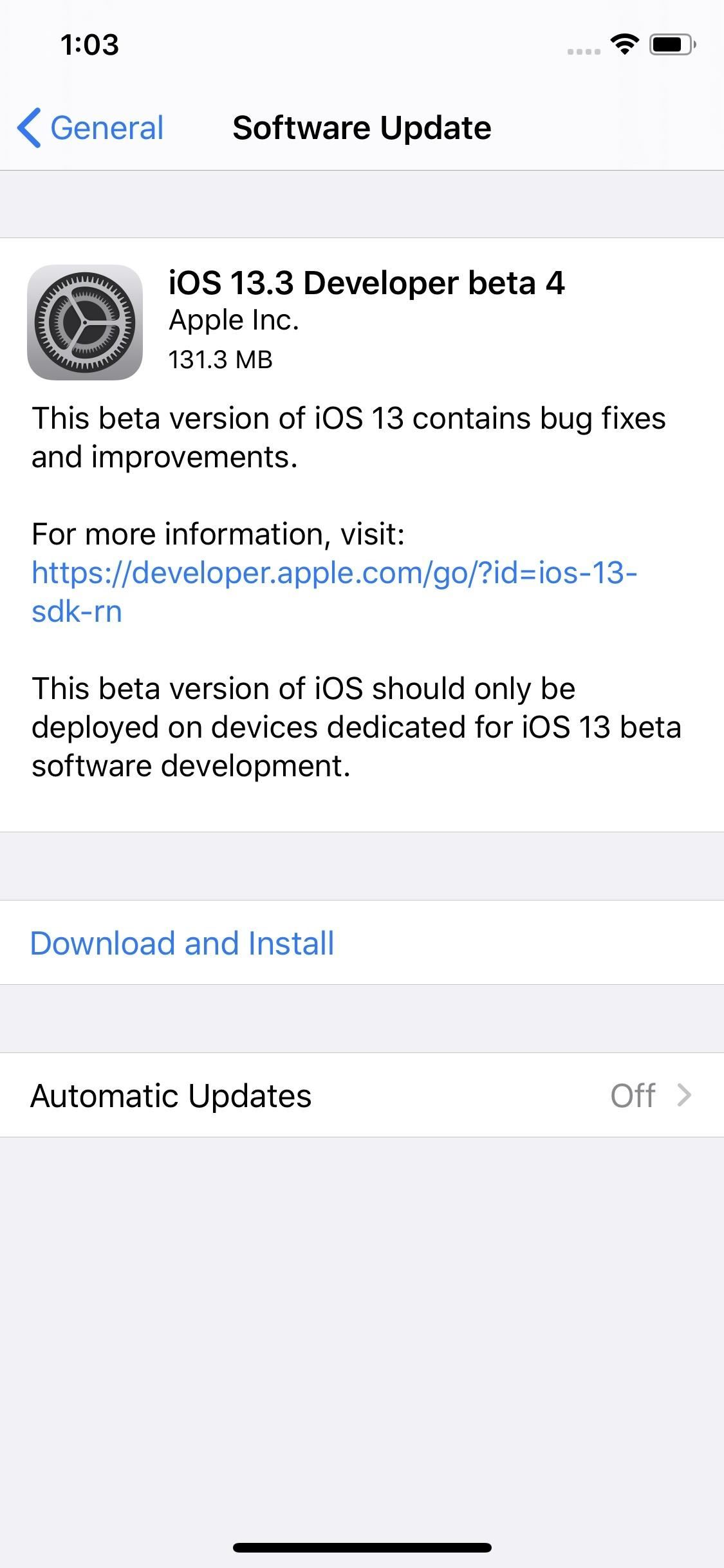 Apple Releases iOS 13.3 Beta 4 for iPhone with Minor Under-the-Hood Improvements