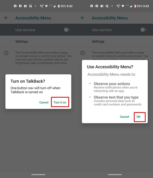 feature permissions