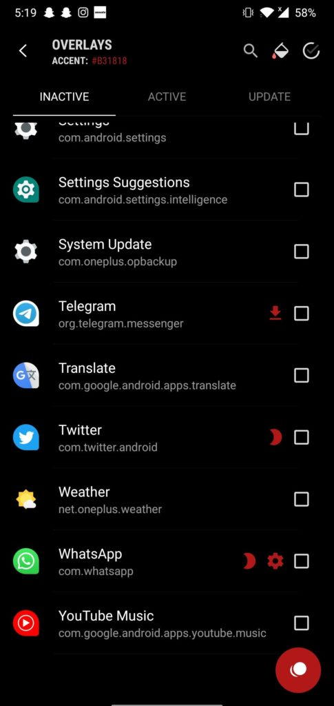 Select Whatsapp from the list