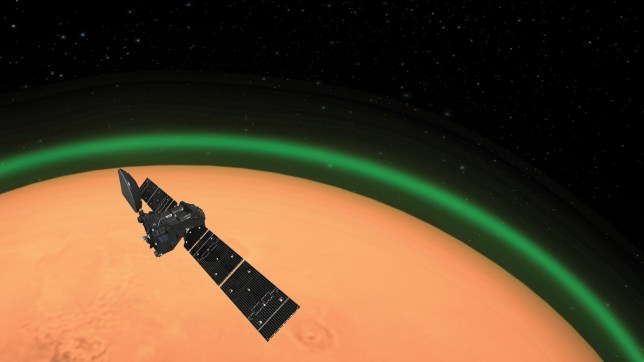 Science/8428021/Mars http://www.esa.int/Science_Exploration/Human_and_Robotic_Exploration/Exploration/ExoMars/ExoMars_spots_unique_green_glow_at_the_Red_Planet