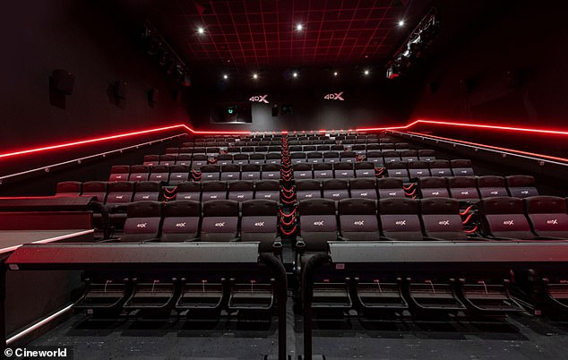Cineworld's exclusive 4DX screenings have stimulating effects such as motion, water, wind, scent and lighting – timed with precision to 'enhance what's happening on screen'