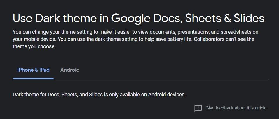 iphone google dark