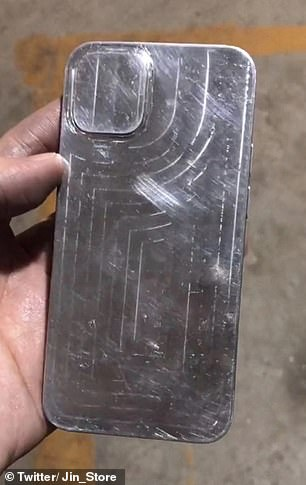 The Apple iPhone 12 is hotly anticipated and will support 5G wireless technology. Pictured, the rear of a putative iPhone 12 cast of the kind used to design third-party cases