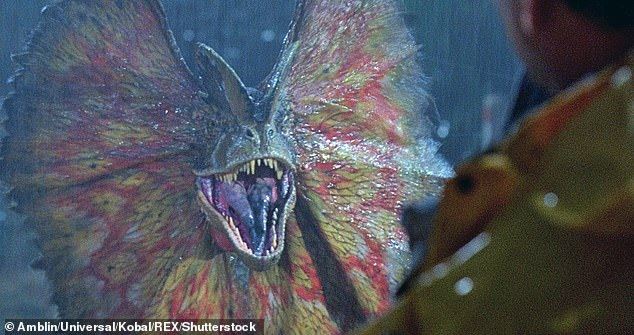 Viewers will feel as though they're being sprayed by dinosaurs while watching the 1993 Steven Spielberg movie Jurassic Park