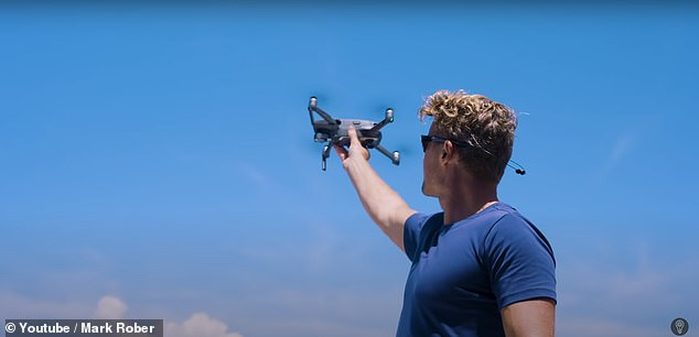 Rober and his team used an aerial drone to count how many times each of the surfboards were approached by a shark