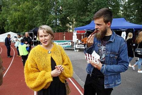Elina Luotonen and Mario Kolkwitz were delighted with the vegan options.