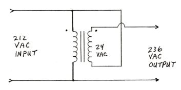 Boost transformer circuit to raise contactor voltage