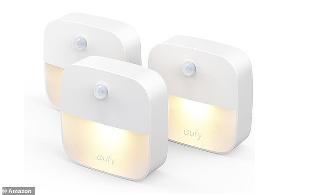 Amazon's top-rated Lumi Stick-On Night Lights are one kind of lights that can be placed anywhere in the house