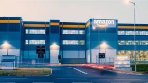 Amazon (AMZN) logistics center in Szczecin, Poland.