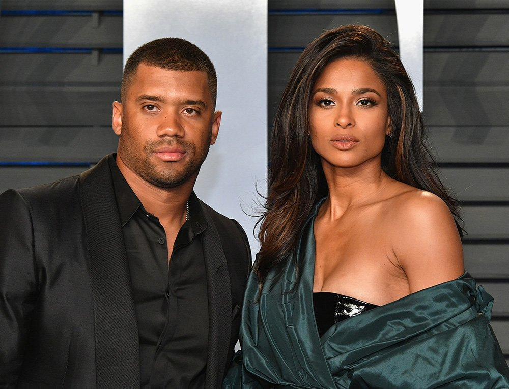 Russell Wilson and Ciara attend the 2018 Vanity Fair Oscar party hosted by Radhika Jones on March 4, 2018. I Photo: Getty Images