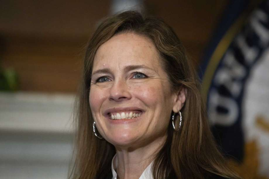 In this Oct. 1, 2020, photo, Supreme Court nominee Judge Amy Coney Barrett, meets with Sen. Roger Wicker, R-Miss., at the Capitol in Washington. Confirmation hearings begin Monday for President Donald Trump's Supreme Court nominee, Amy Coney Barrett. If confirmed, the 48-year-old appeals court judge would fill the seat of liberal Justice Ruth Bader Ginsburg, who died last month.  (Graeme Jennings/Pool via AP) Photo: Graeme Jennings, AP / Graeme Jennings/WashingtonExaminer
