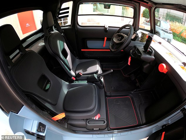 The car has a basic interior to keep prices low, with UK customers likely to have to pay around £5,000