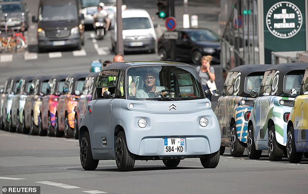 The Citroen Ami has created it for urban areas. And you won't be able to go much further than the city, as the range is only 44 miles