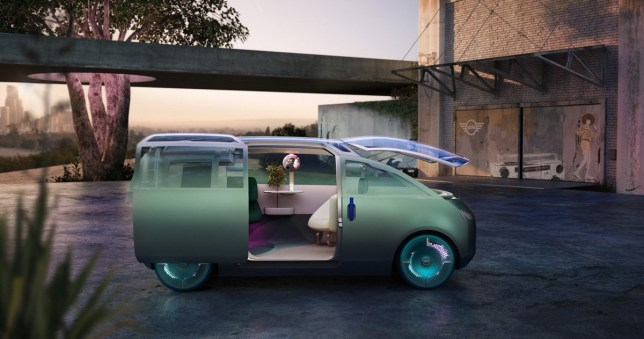 The Mini Vision Urbanaut is a new autonomous concept car that fits a lot into a small space (Mini)