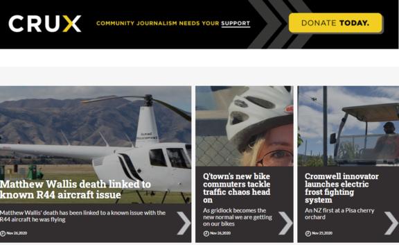 The Crux homepage