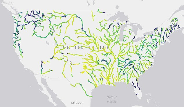A team from the University of North Carolina at Chapel Hill analyzed 235,000 satellite images taken from 1984 through 2018 and found one-third of rivers have transitioned from blue to green and yellow