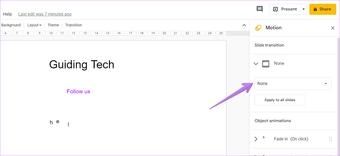 Google slides animation tips tricks 15