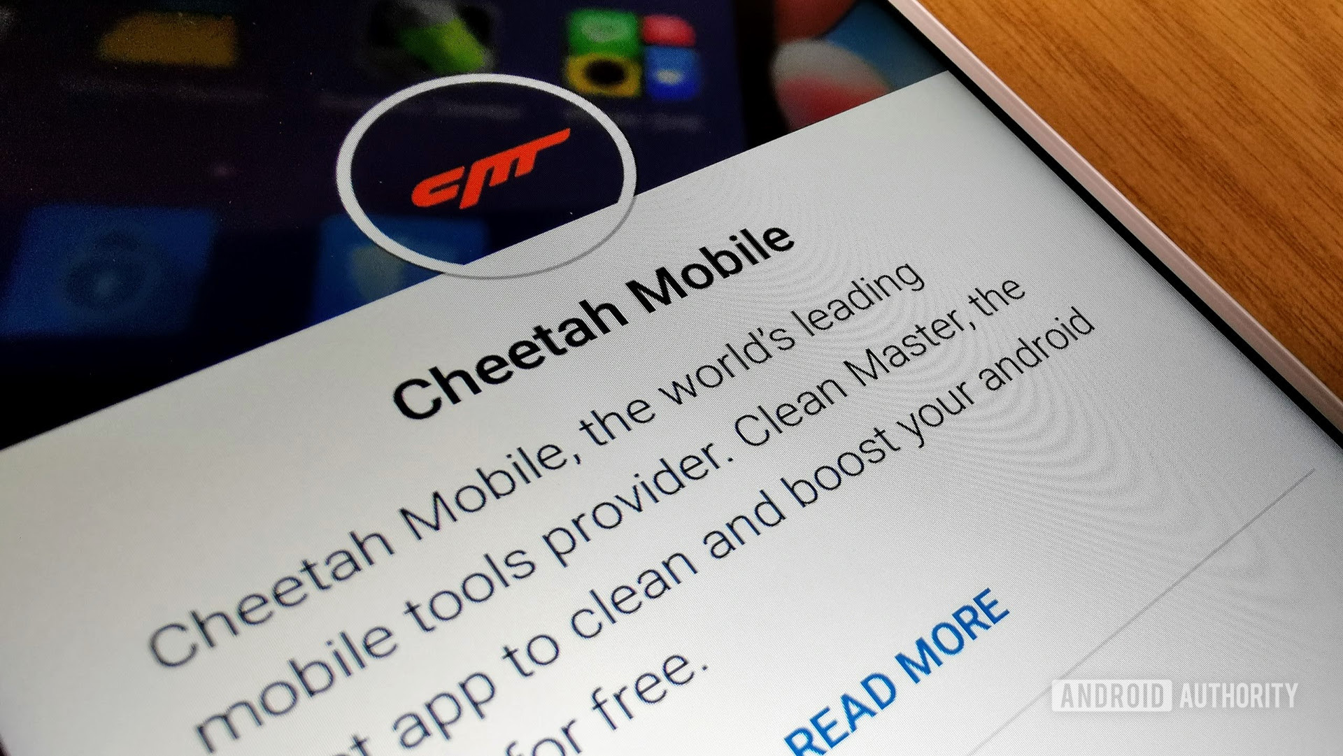 The Cheetah Mobile Play Store page.