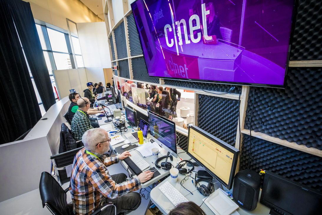 CNET booth at CES 2019