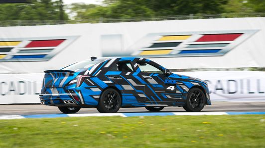 Cadillac CT4-V, CT5-V Blackwing teasers.