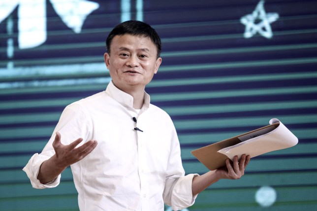 Founder of Alibaba Group Jack Ma gives a speech at the 'Ma Yun Rural Teachers and Headmasters Prize'