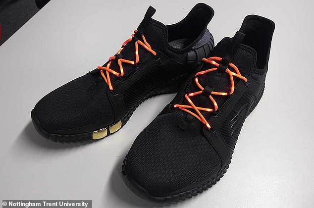 Experts from Nottingham Trent University have found a way to weave LED lights into shoelaces to help joggers be spotted