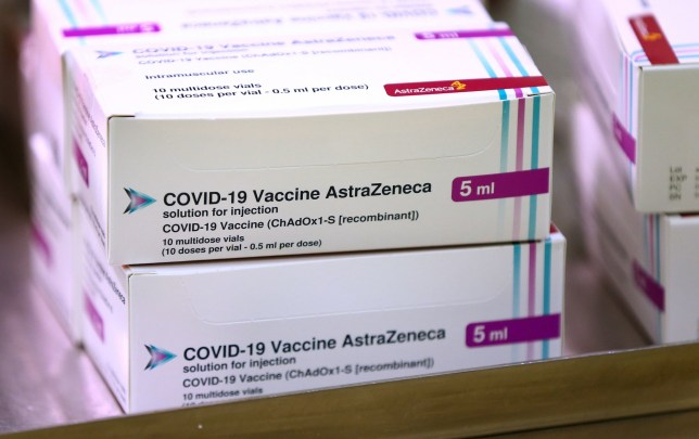 Doses of the Oxford University AstraZeneca Covid-19 vaccine
