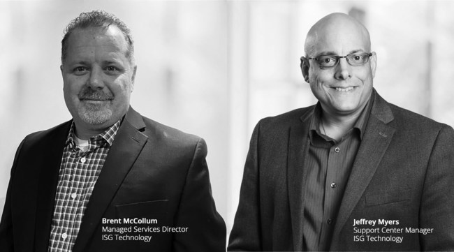 IT Veterans Brent McCollum and Jeffrey Myers join ISG Technology to ramp up Managed IT Services.