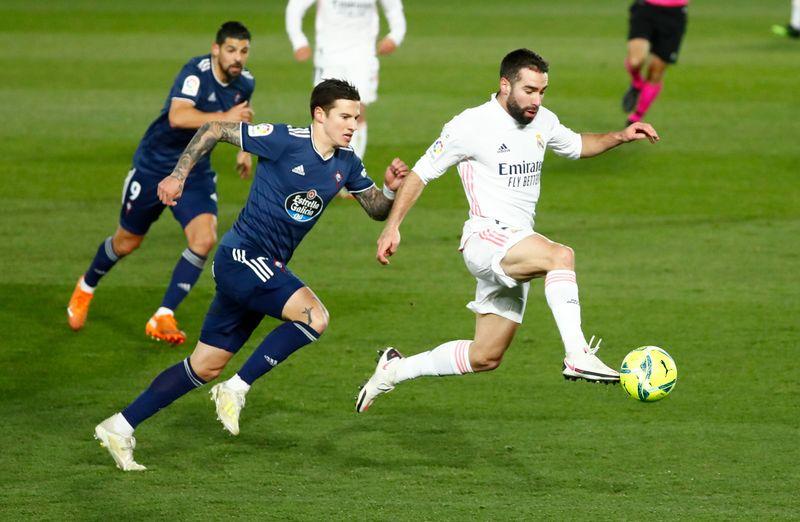 © Reuters. La Liga Santander - Real Madrid v Celta Vigo