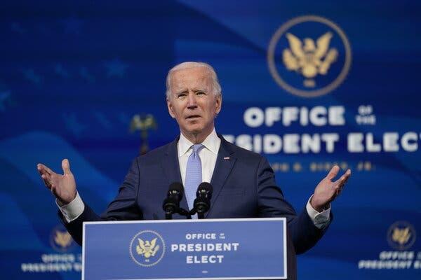 President-elect Joseph R. Biden Jr. on Wednesday.