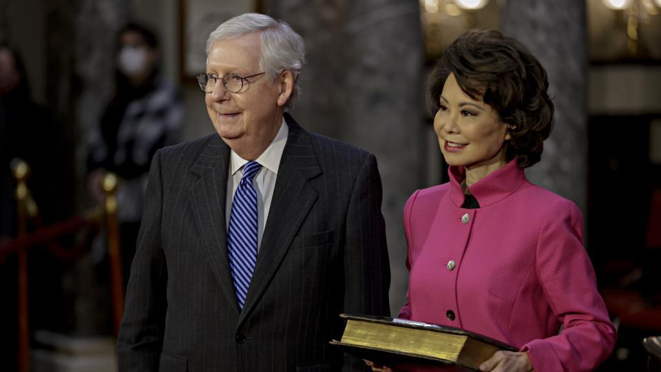 Swearing In Held For U.S. Senators To Start The 117th Congress