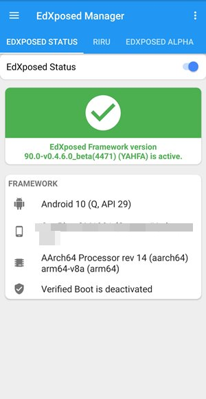edxposed is active miui 12