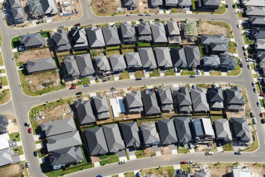 A new housing estate in Western Sydney