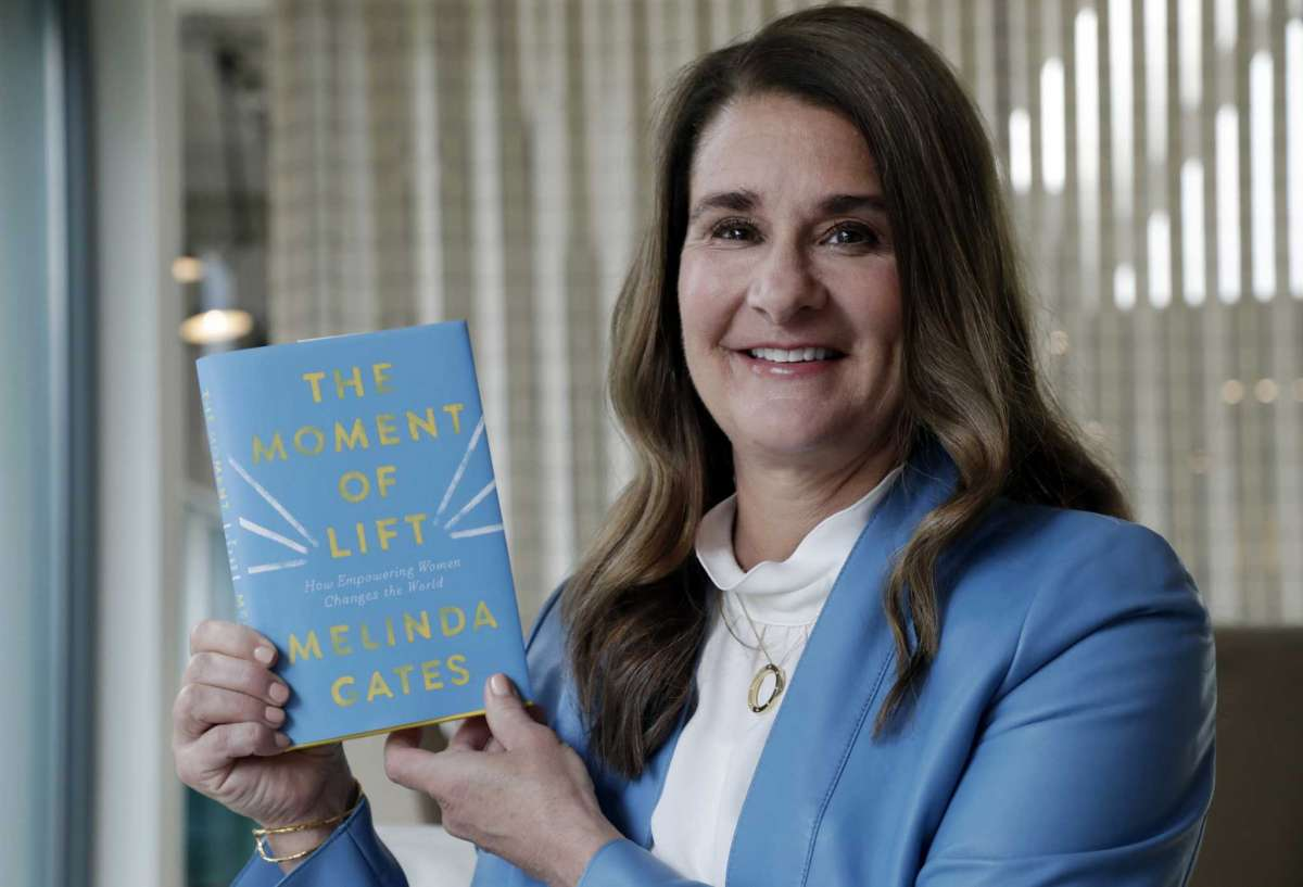 FILE - In this April 18, 2019, file photo, Melinda Gates poses for a photo with her new book,
