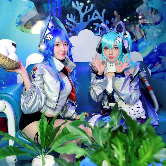 Cosplayers perform at the Bilibili stand at the 2020 China Digital Entertainment Expo & Conference (ChinaJoy) in Shanghai