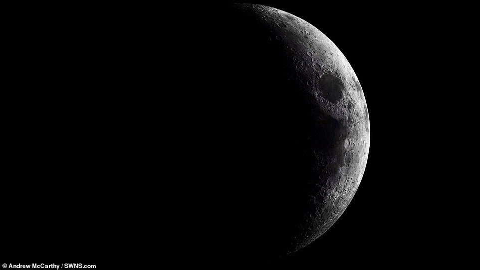Lunar photographer Andrew McCarthy spent hundreds of hours over 22 consecutive nights, taking thousands of photos of the moon as it waxed and then waned through nearly a full orbit