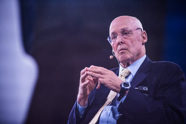 Henry Paulson, the former Treasury secretary, in 2019.He will become the executive chairman of new fund run by the investment firm TPG.