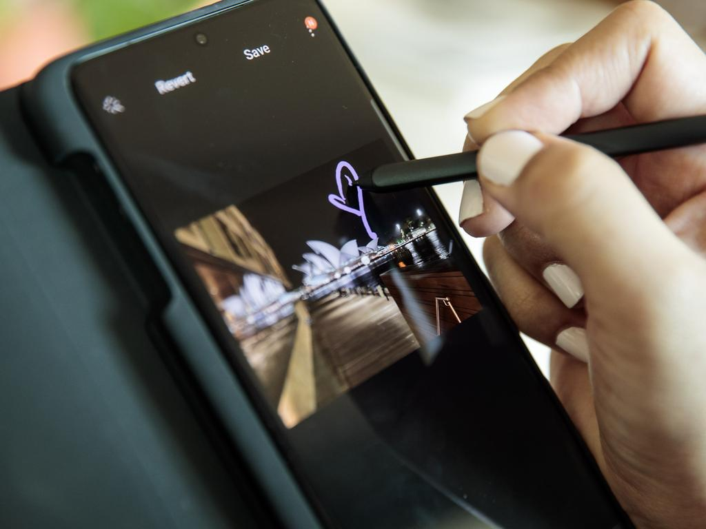 The future of the smartphone, according to Samsung and its Galaxy S21. Picture: Ken Leanfore