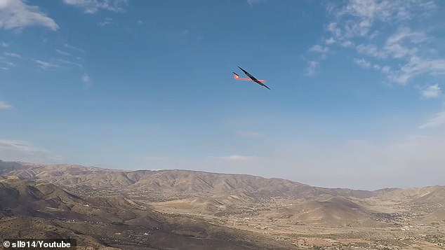 As the glider looped back and around, it let out a sound similar to that of a giant airplane as if it were to fly directly overhead