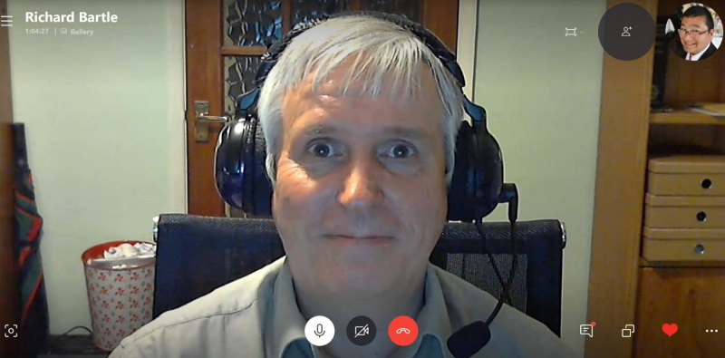 This may be Richard Bartle on Skype. Or maybe his virtual character.
