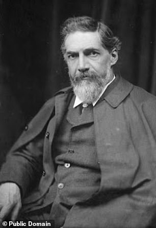 The 'proto-Sinaitic' script would go on to develop into Ancient South Arabian and Phoenician script, from which the Greek and Latin alphabets are derived. Pictured: Flinders Petrie, who first unearthed the early alphabet with his wife Hilda in 1905